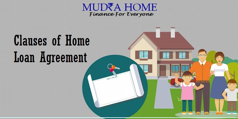 Clauses of home loan agreement