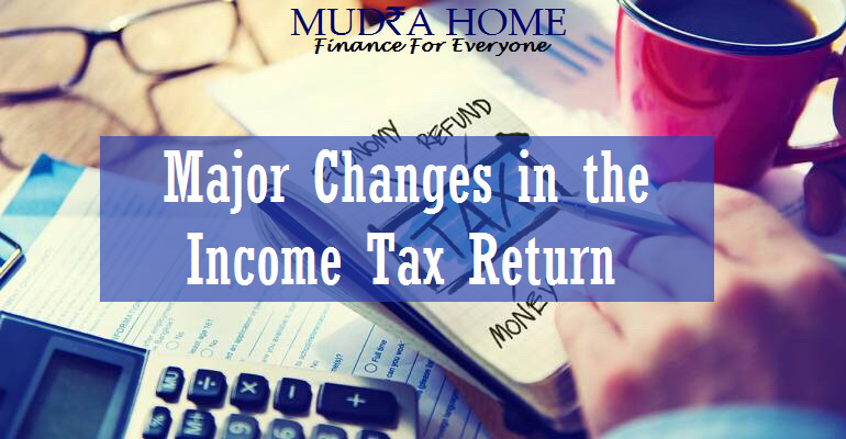 changes in the income tax return