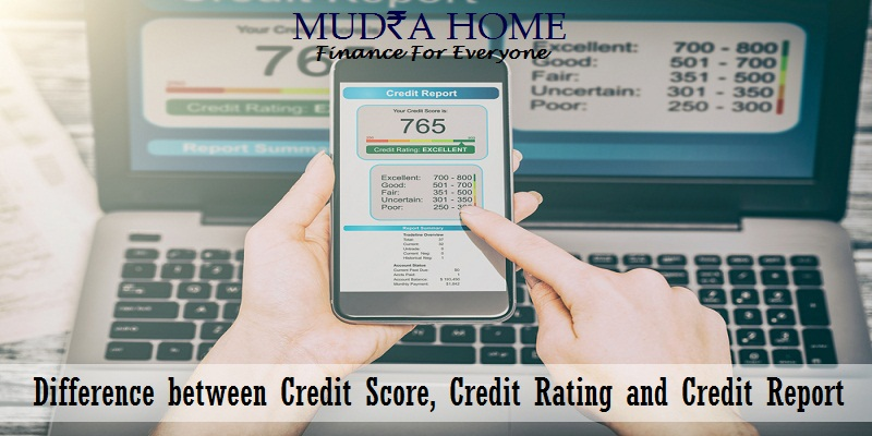 difference between credit score credit rating and credit report