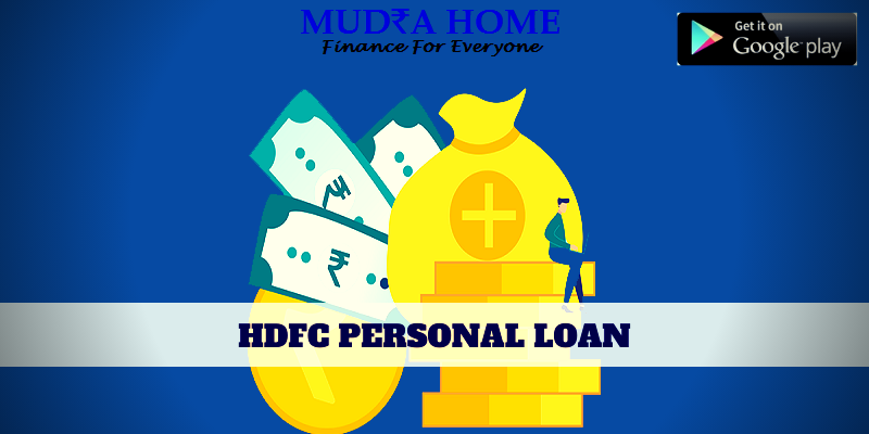 Personal loan HDFC - (A)