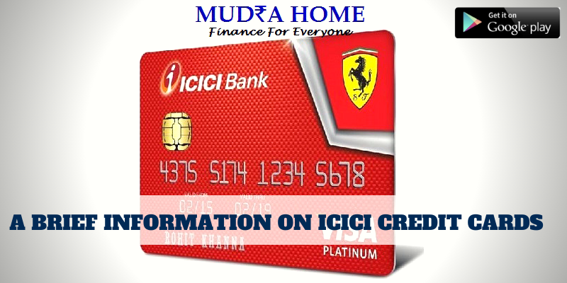 A BRIEF INFORMATION ON ICICI CREDIT CARDS - (A)
