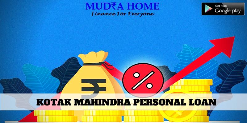 KOTAK MAHINDRA PERSONAL LOAN - (A)