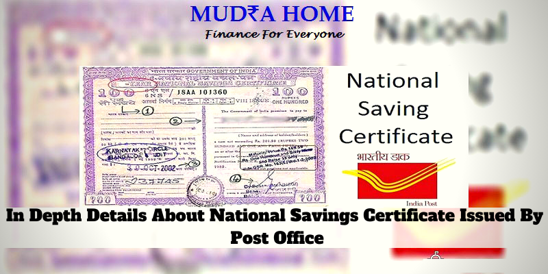 In Depth Details About National Savings Certificate Issued By Post Office-(A)