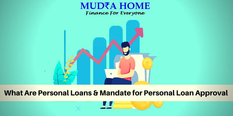 What are personal loan and modrate for personal loan approval - (A)