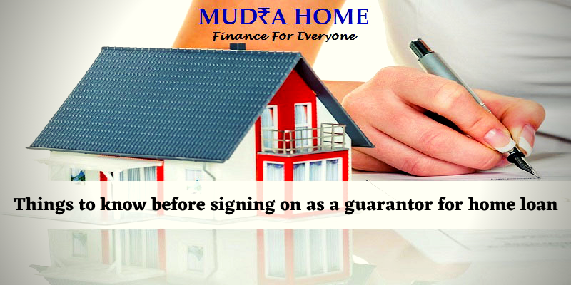 Things to know before signing on as a guarantor for home loan
