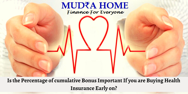 Is the Percentage of cumulative Bonus Important If you are Buying Health Insurance Early on -(A)