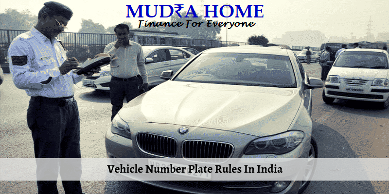 Vehicle Number Plate Rules In India - (A)