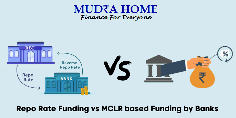 Repo Rate Funding vs MCLR based Funding by Banks - (A)